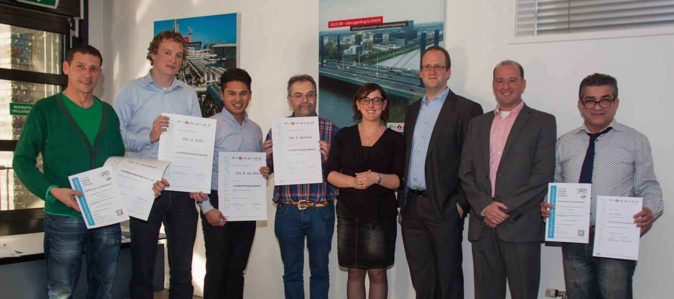 Uitreiking SPIN Certified Project Planning Engineers